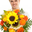Say it with flowers - Stock Photo