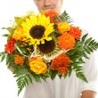 Stock Photo: Flowers for you