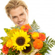 Stock Photo: Smiling face flowers
