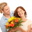 Stock Photo: Mother and son enjoy
