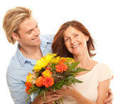 Mother and son enjoy — Stock Photo