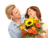 Flowers to motherday — Stock Photo