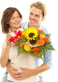 Together mother and son — Stock Photo