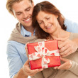 Present for mother — Stock Photo