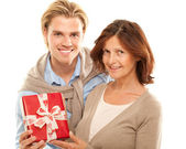 Mother and son happy — Stock Photo