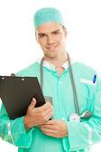 привлекательный белокурый доктор — Стоковое фото