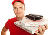 Pizzaservice — Stock Photo