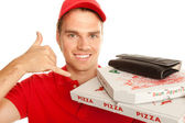 Call a pizza — Stock Photo