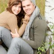 Stock Photo: Couple looking in the
