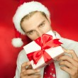 Man with gift — Stock Photo #6188685