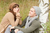 Couple have fun in nature — Foto Stock