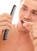 Man loosing hair — Stock Photo