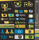 Camera design elements — Stock Vector