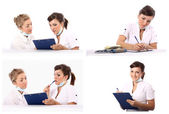 Two doctors conversation — Stock Photo