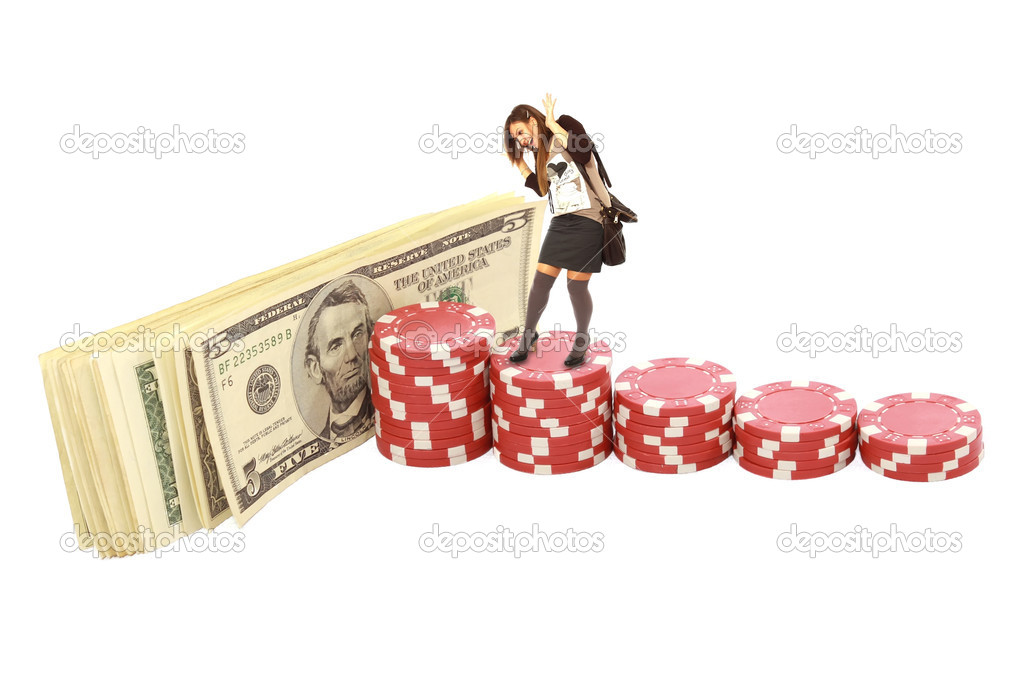 Girl poker chips