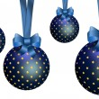 Blue Christmas Ornaments. — Stock Photo