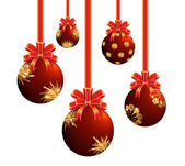 Red Christmas ornaments. — Stock Photo