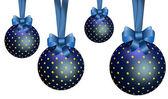 Blue Christmas Ornaments. — Stock Photo