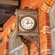 Clock on the platform — Stock Photo