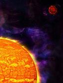 太陽と惑星 — ストック写真