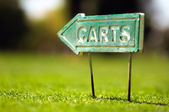 Carts sign — Stock Photo