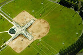 Abstract Aerial View of Baseball Fields — Stock Photo