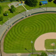 Aerial View of Pattern in Baseball Field — Stock Photo #5992526
