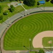 Aerial View of Pattern in Baseball Field - Stock Photo