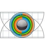 Technical eye — Stock Vector