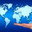 Holding the world on the hand  — Stock Photo