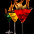 Burning drinks — Stock Photo #5978431