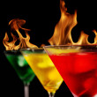 Burning drinks — Stock Photo #5978442