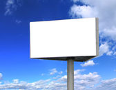 Big blank billboard — Stock Photo