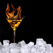 Burning drink — Stock Photo