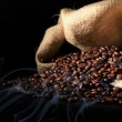 Coffee beans in sack — Stock Photo #5983415