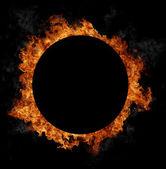 Fire circle — Stock Photo