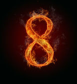 "Fire number ""8"" — Stock Photo"