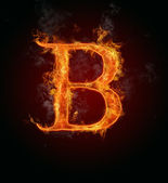 Flaming font, letter B — Stock Photo