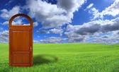Door to the new world — Stock Photo