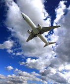 Big jet plane — Stock Photo