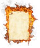 Burning grunge paper — Stock Photo