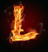 Fire Letter — Stock Photo