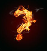 Fire question mark — Stock Photo