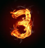 "Fire number ""3"" — Stock Photo"