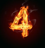 "Fire number ""4"" — Stock Photo"