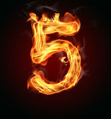 "Fire number ""5"" — Stock Photo"