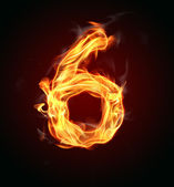 "Fire number ""6"" — Stock Photo"