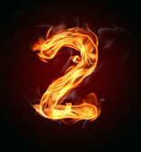 "Fire number ""2"" — Stock Photo"