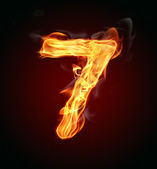 "Fire number ""7"" — Stock Photo"