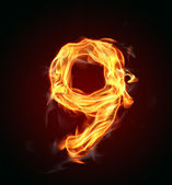 "Fire number ""9"" — Stock Photo"